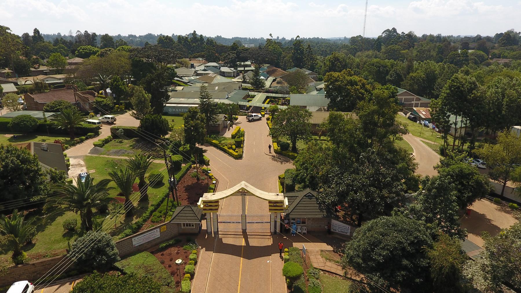 PCEA Kikuyu Hospital Aerial Views